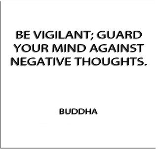 Buddha quote on negative thoughts