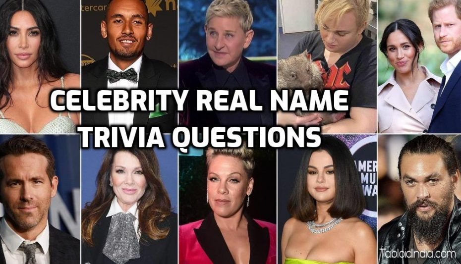 Celebrity Real Name Trivia Questions