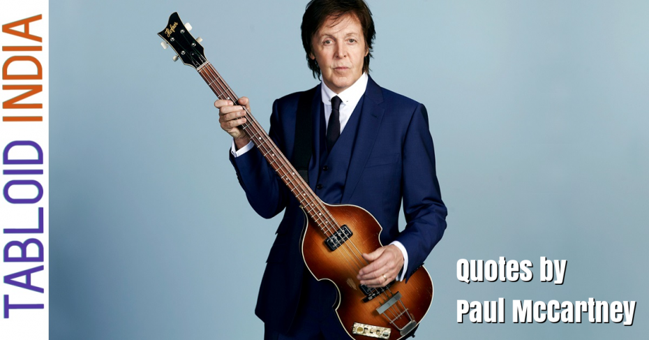 Quotes by Singer Paul McCartney