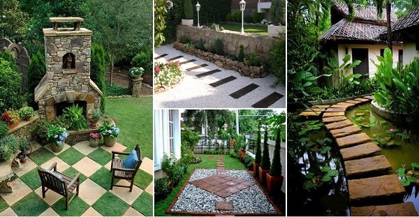 Inspiring home garden pathway ideas
