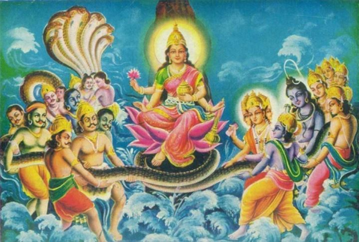Legend of Samudra Manthan and Goddess Lakshmi